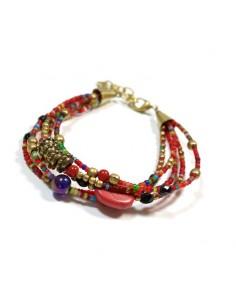 Bracelet rouge à perles