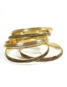 Lot de 5 bracelets en laiton