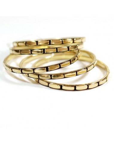Lot de 5 bracelets fantaisie laiton