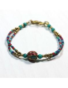 Bracelet tibétain coloré