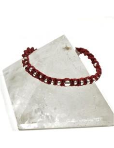Bracelet rouge et argenté