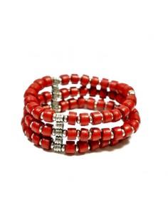 Bracelet ethnique rouge