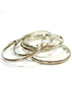 Lot de 5 bracelets en métal argenté