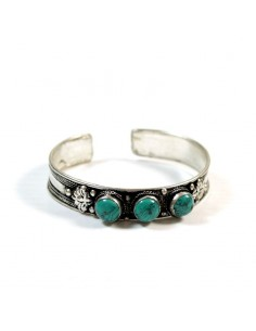 Bracelet tibétain avec turquoises
