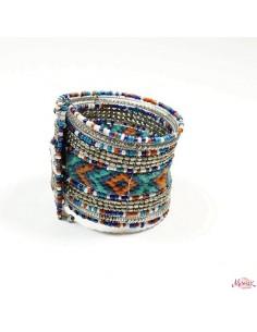 Manchette en perles colorées