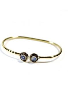 Bracelet laiton et pierre de lune