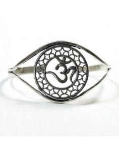 Bracelet métal argenté aum