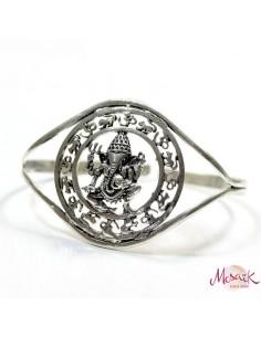 Bracelet argenté Ganesh