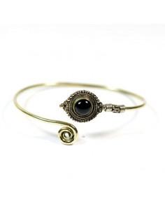 Bracelet doré et onyx