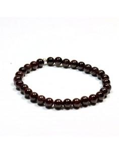 bracelet grenat perles rondes 5mm