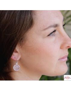 Boucles d'oreilles argent et pierre de lune 2