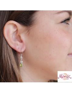 Boucles d'oreilles argent et péridot 2