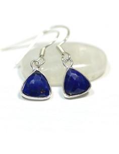 Boucles d'oreilles argent et lapis lazuli