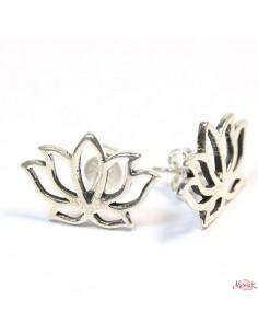 Studs lotus en argent