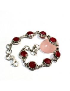 Bracelet argent et rubis indien