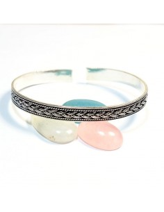 Bracelet argent motif tressé