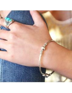 bracelet jonc boules diam 7cm 2