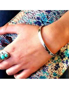 Bracelet argent à graver- Mosaik  bijoux indiens 2