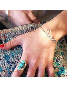 Bracelet Love en argent - Mosaik  bijoux indiens 2