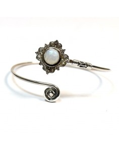 Bracelet argent et pierre de lune