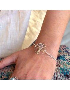 Bracelet arbre de vie en argent - Mosaik bijoux indiens 2