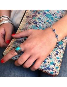 Bracelet argent et lapis lazuli 2