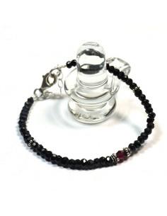Bracelet onyx taillé