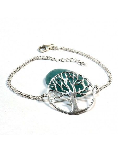 Bracelet argent et arbre de vie