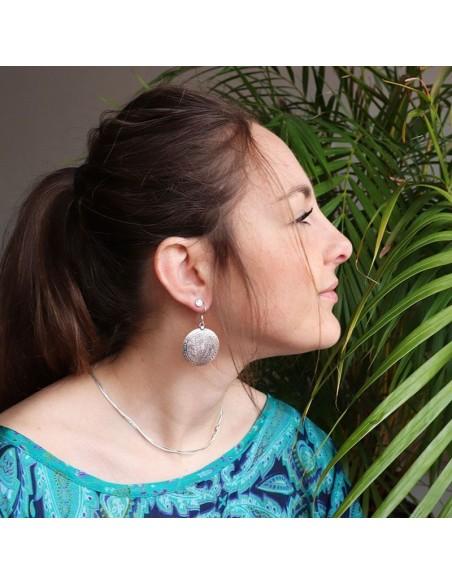 Boucles d'oreilles en argent ethniques