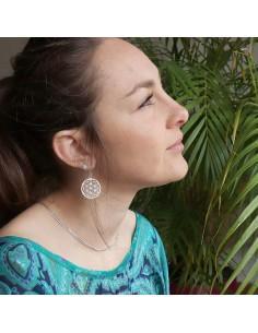 Boucles d'oreilles symbole fleur de vie 2