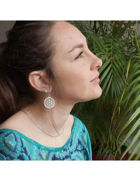 Boucles d'oreilles symbole fleur de vie