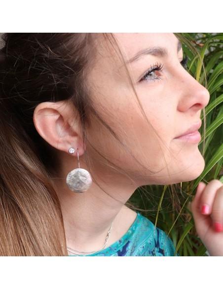 Boucles d'oreilles argent à motifs