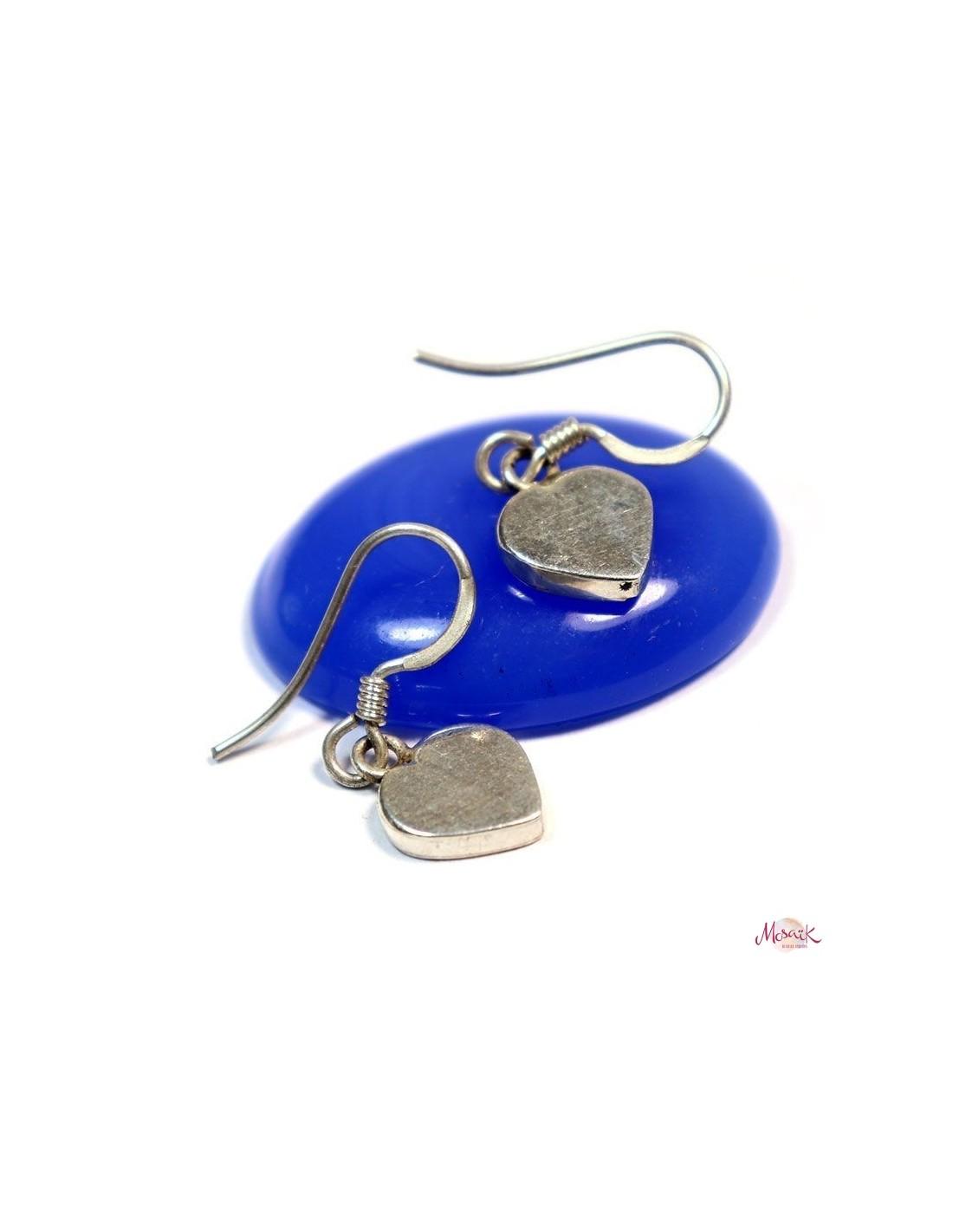 Boucles d 39 oreilles argent coeur bijoux argent indiens - Fermoir boucle d oreille argent ...