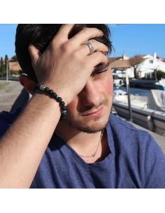 Bracelet pierres de lave et turquoise 2