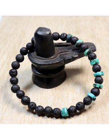 Bracelet homme avec pierre turquoise