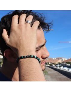 Bracelet pierre de lave et turquoise 2