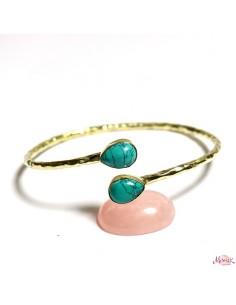 Bracelet jonc et turquoise