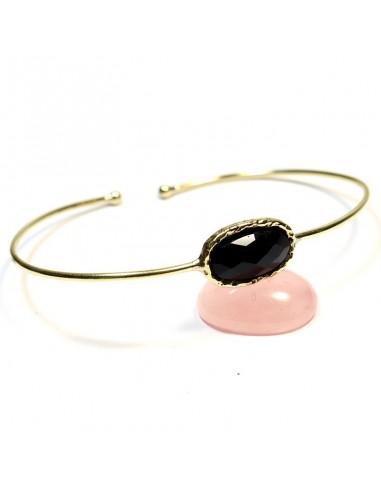 Bracelet laiton et onyx