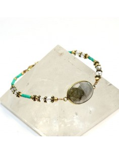 Bracelet perles et labradorite