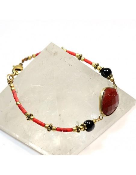 Bracelet perles et jaspe