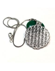 Collier pendentif fleur de vie