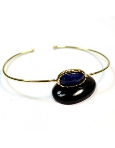 Bracelet laiton et lapis lazuli