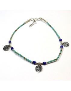 Chaine de cheville en perles