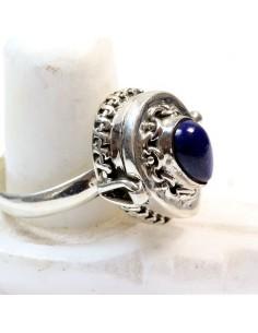 Bague poison argent et lapis lazuli T57