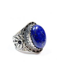 Bague argent et lapis lazuli T57