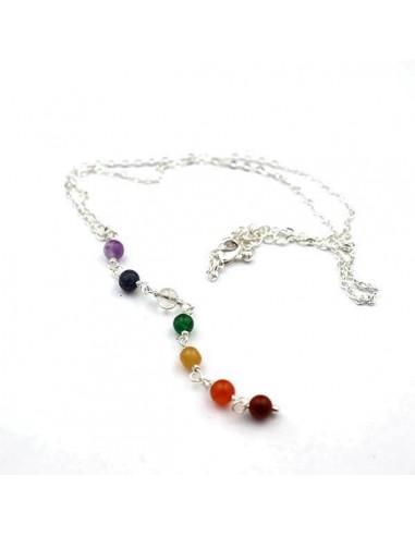 d19ad215c36e78 Achat collier métal et pierres 7 chakras | boutique Mosaik | cf83