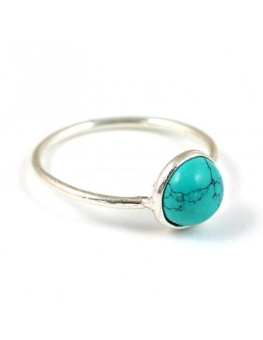 Achat bague fine argent et turquoise   boutique Mosaik   bp1698 Trier par  tailles 58 9302e284e164
