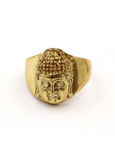 Bague dorée tête de bouddha - Mosaik bijoux indiens