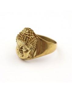 Bague dorée tête de bouddha - Mosaik bijoux indiens 2