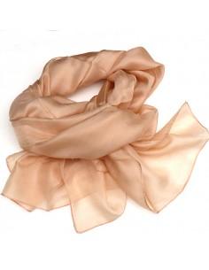 Foulard en soie beige  2
